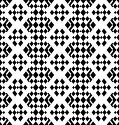 Retro monochrome geometric seamless pattern vector