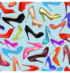 seamless background of fashionable vector image