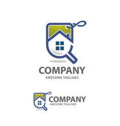 Search home sales logo vector