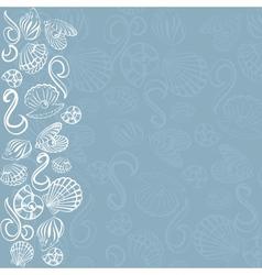 Seashell card vector image