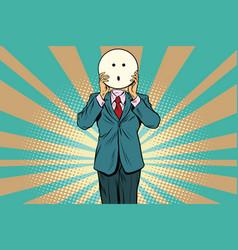 surprise man smiley emoji face vector image