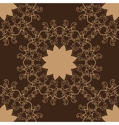 Vintage pattern Hand drawn abstract tile vector image vector image