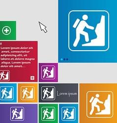 Rock climbing icon sign buttons modern interface vector
