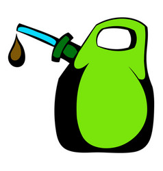 Oil canister icon cartoon vector