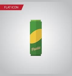 Isolated pasta flat icon spaghetti elemen vector