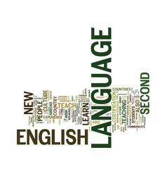 English as a second language text background word vector