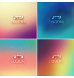 Abstract colorful blurred backgrounds set 9 vector image