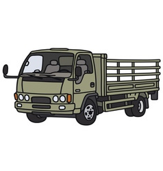 Green lorry truck vector