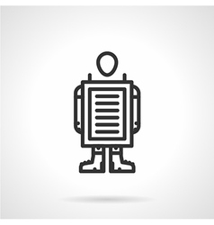 Walking advertisement black line icon vector