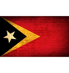 Flags east timor with dirty paper texture vector