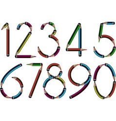 Pencil numbers vector