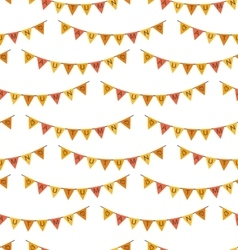 Seamless pattern with autumn bright buntings vector