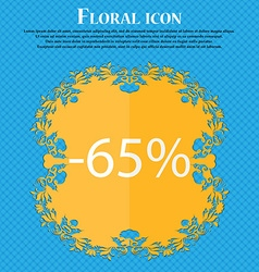 65 percent discount sign icon sale symbol special vector