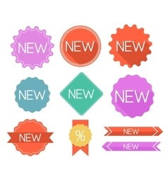 Modern flat labels vector image