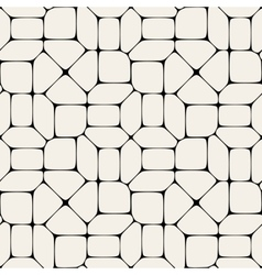Seamless mosaic pavement pattern vector