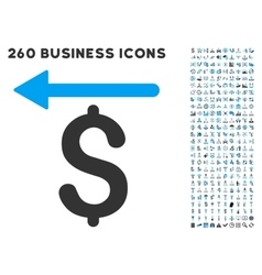 Moneyback icon with flat set vector