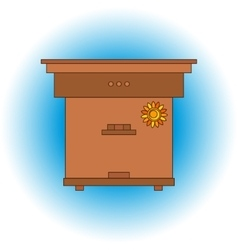 Bee beehive outline vector