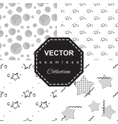 Abstract star pattern a seamless background vector