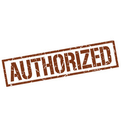 Authorized stamp vector
