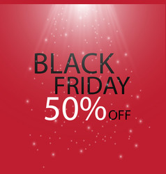 black friday black fog and light on red background vector image vector image