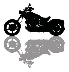 Black silhouette of heavy motorcycle vector