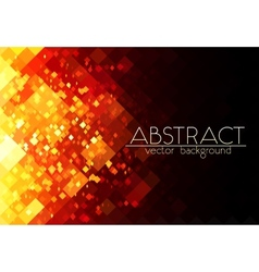 Bright orange fire grid abstract horizontal vector image