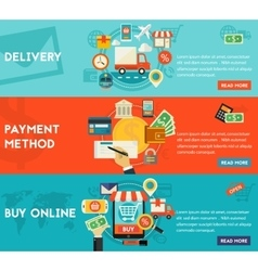 Buy Online Payment Methods And Delivery Concept vector image vector image