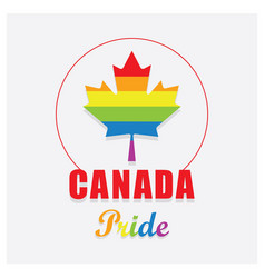 Canada pride maple leaf emblem icon on off white vector