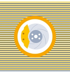Car brake discs color flat icon vector