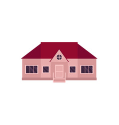 cartoon style icon of one-storey house home vector image