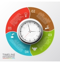 Circles elements for timeline infographic vector