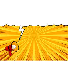 Comic book loudspeaker announcement speech bubble vector image vector image