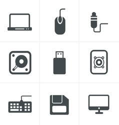 Computer Icons Set Design vector image vector image