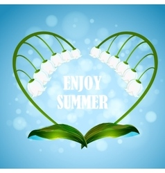 Enjoy the summer with heart shape vector image