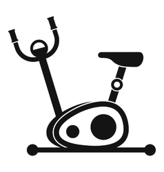 Exercise bike icon simple style vector