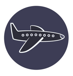 flat cartoon plane icon airplane symbol vector image