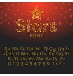 Gold glittering Alphabet of sparkles vector image