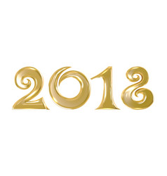 golden sign 2018 vector image