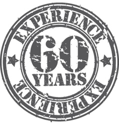 Grunge 60 years of experience rubber stamp vector