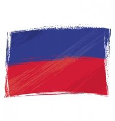 Grunge haiti flag vector