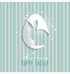 Happy Easter celebrations greeting card design vector image vector image