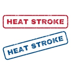 Heat stroke rubber stamps vector