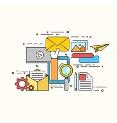 modern flat design of email marketing vector image