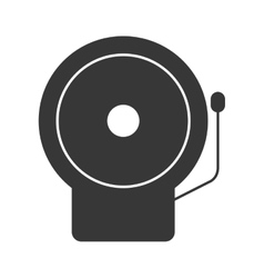 Monochrome silhouette with fire alarm vector