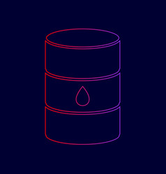 oil barrel sign line icon with gradient vector image