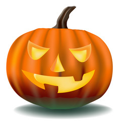 Pumpkin with ominous eyes vector