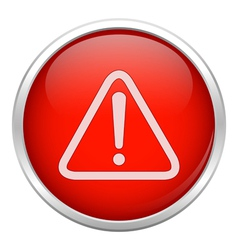 Red warning icon vector image