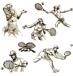 Tennis collection vector