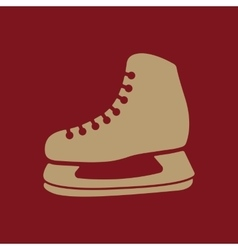 The skates icon hockey skates symbol flat vector