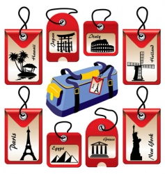 travel landmarks vector image vector image